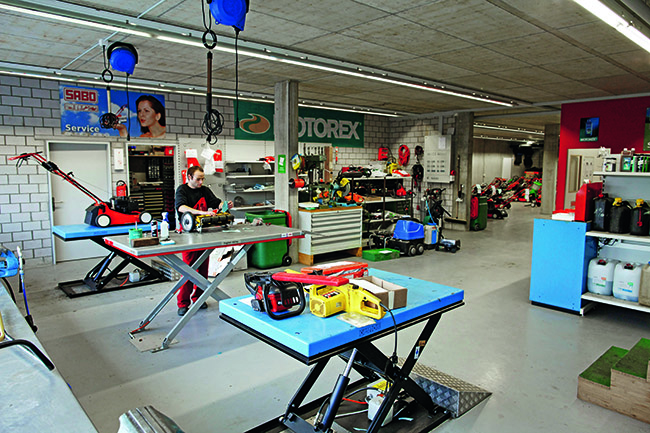 Rasenmäher service  Werkstatt